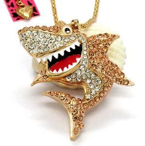 Betsey Johnson Shark Sweater Necklace